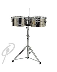 """LP Tito Puente Timbales 14+15"""" Steel w/stand"""