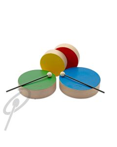 Rohema Coloured Wood Drums w/2 Mallets