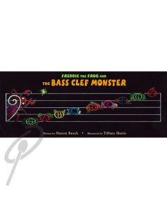 Freddie the Frog and Bass Clef Monster poster