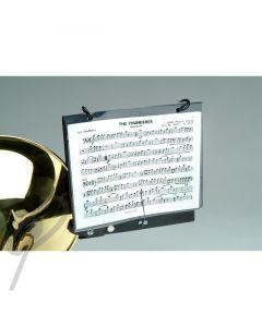 DEG Trombone bell clamp lyre w/mus folde