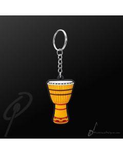 Key Chain African Drum Yellow