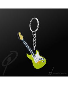Key Chain Electric Guitar Green