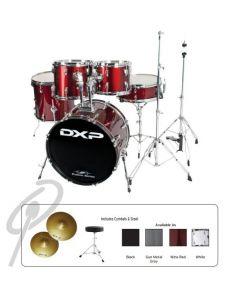 """DXP 20"""" Fusion Kit w/cym+stool - White"""