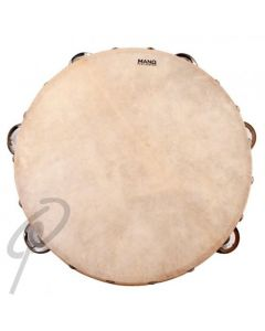 Mano Tambourine - 10inch with Calf Head 9 Pairs of Jingles