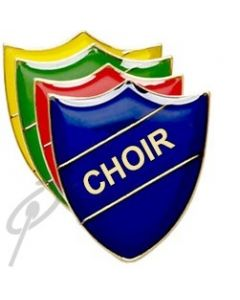 Choir Badge Blue Shield