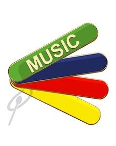 Music Badge Blue Bar
