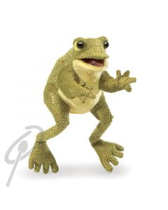 Folkmanis Funny Frog small hand puppet