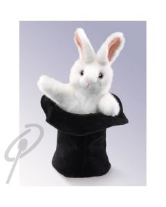 Folkmanis Rabbit in a Hat puppet