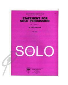 Statement for Solo Percussion