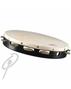 """Grover Tambourine 12"""" German Silver Single Row"""