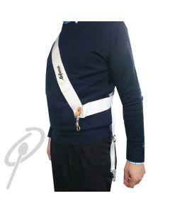 Lefima Textile Sling for Parade Drum WHITE