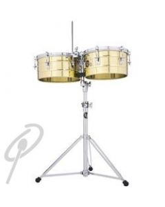 """LP Tito Puente Timbales 13+14"""" Brass w/stand"""