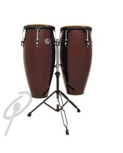 LP Congas - 10inch + 11inch Aspire Dark Wood includes Double Stand