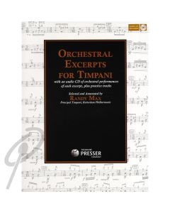Orchestral Excerpts for Timpani Bk/CD