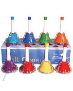Mitello Hand Bells 8 Note Rainbow C-C