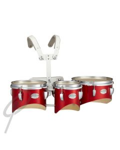 """Pearl Junior Marching Trio 6,8,10"""" RED w/harness"""