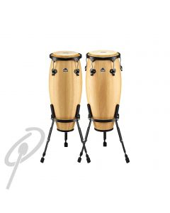 """Nino 8"""" & 9"""" Congas Natural w/basket stands"""