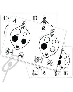 Ocarina Flashcard Set A4