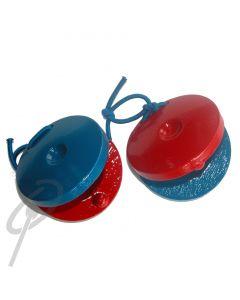 Optimum Wooden Finger Castanets Red/Blue