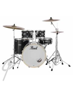 Pearl Export 20,10,12,14 Jet Black no cyms