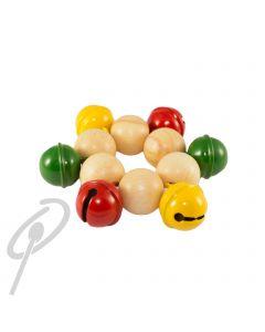 Rohema Wrist Bells 9cm Red/Yellow/Green