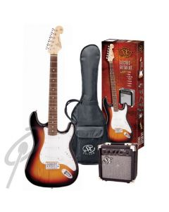 SX Electric Guitar Package Black
