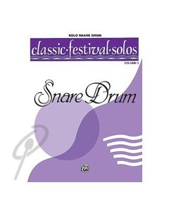 Classic Festival Solos Snare Drum - Volume 2 Solo Book