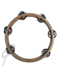 Mano Headless Tambourine - 8inch Wood 6 Jingles