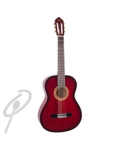 Valencia 4/4 Size Classical Guitar Red