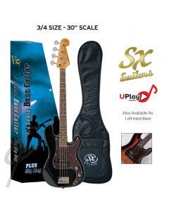SX Electric Bass Guitar 3/4 Black