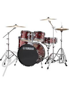 Yamaha Rydeen 20,10,12,14 Drum Kit Burgundy Glitter