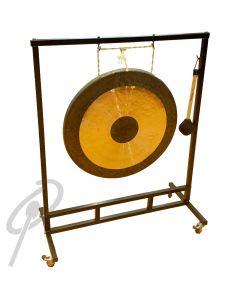 "Optimum 36"" Gong stand Squ. w/wheels"