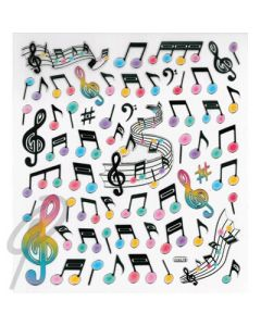 GREVILLEA stickers music notes staff