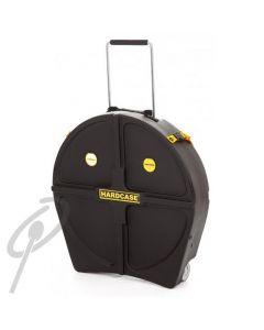 "Hardcase 22"" Cymbal rolling case w/handle"