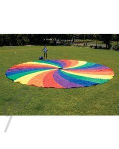 HS Colour Parachute Swirl 5.5m w/grip rope