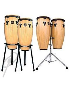 LP Congas - 10inch + 11inch Aspire Natural Wood including Double Stand