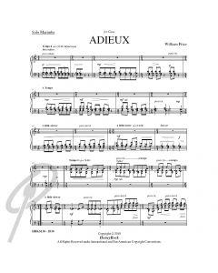 Adieux for solo marimba