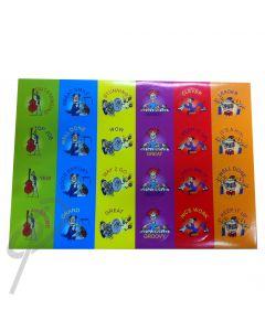 Tune Toon Junior Primary Stickers (96)